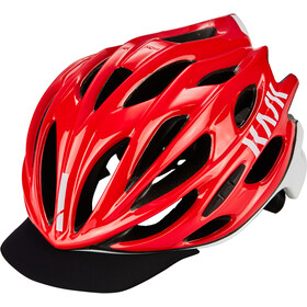 Kask Mojito X Peak Fietshelm, red-white